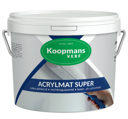 Acrylmat Super Koopmans Verf